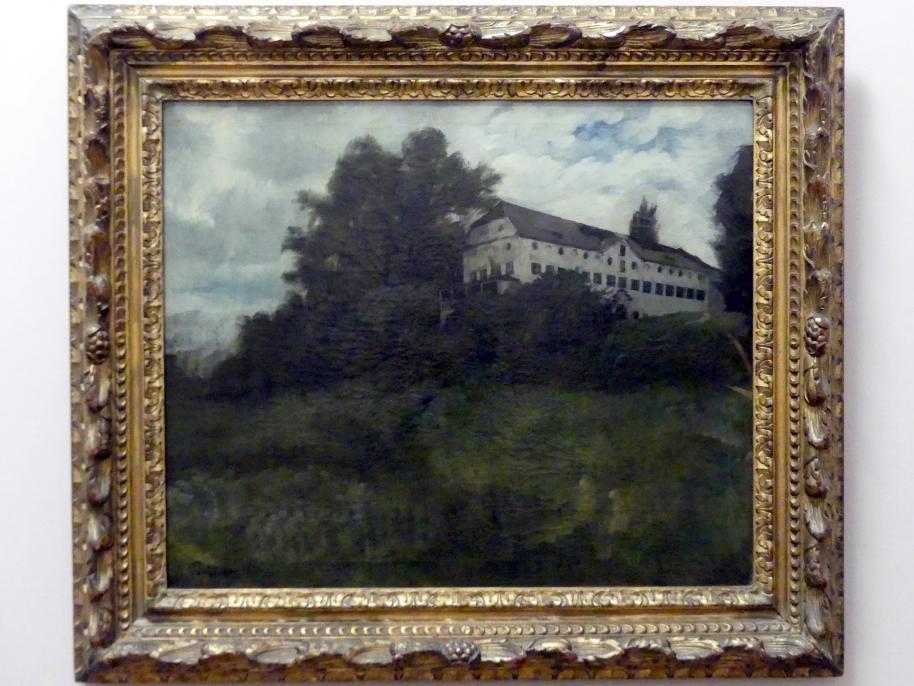 Wilhelm Trübner: Klostergebäude auf der Herreninsel im Chiemsee, 1874