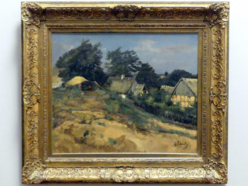 Carl Schuch: Häuser in Ferch am Schwielow-See, um 1878 - 1881