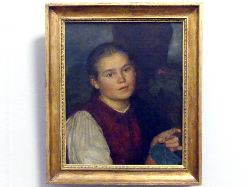 Hans Thoma: Agathe, die Schwester des Künstlers, 1863