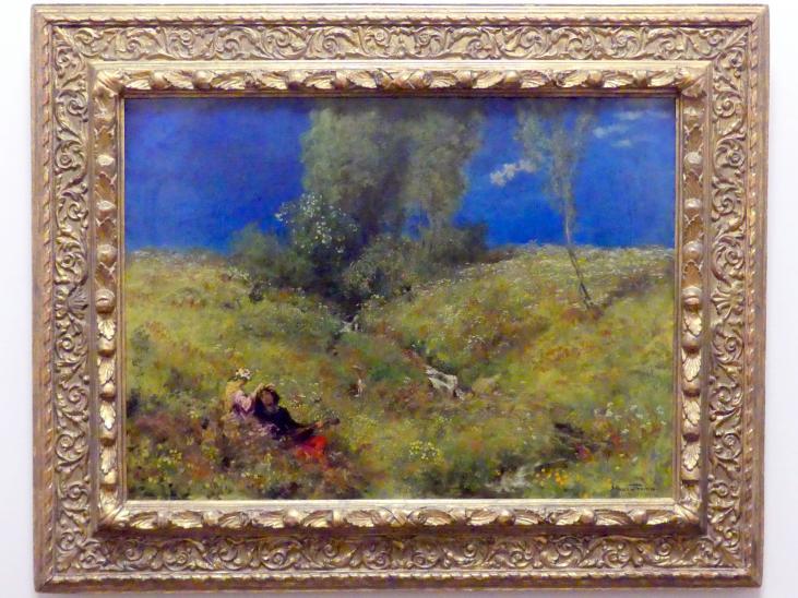 Hans Thoma: Wächter vor dem Liebesgarten, 1890