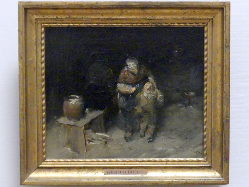 Wilhelm Busch: Der Widerspenstige, um 1875