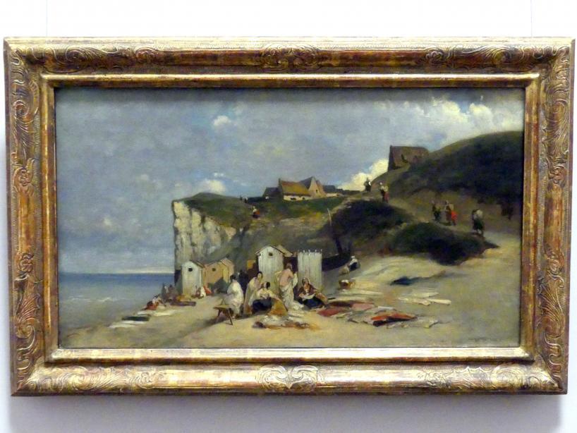 Carl Spitzweg: Badende Frauen am Meer bei Dieppe, um 1857 - 1860