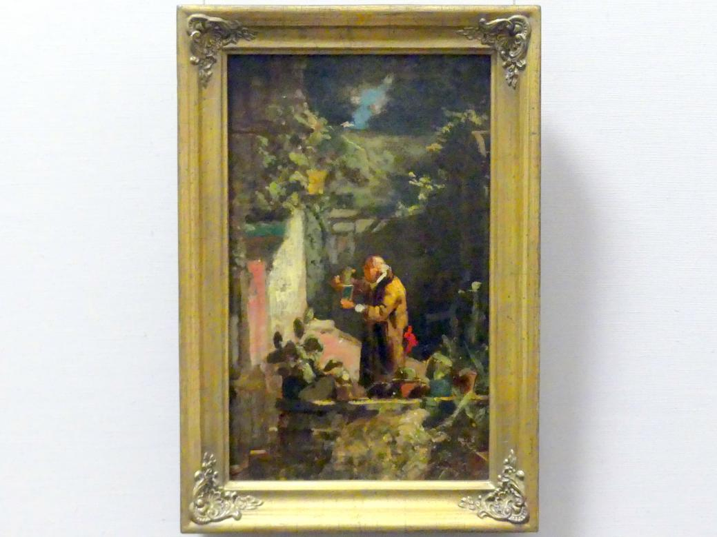 Carl Spitzweg: Der Herr Pfarrer als Kakteenfreund, um 1856