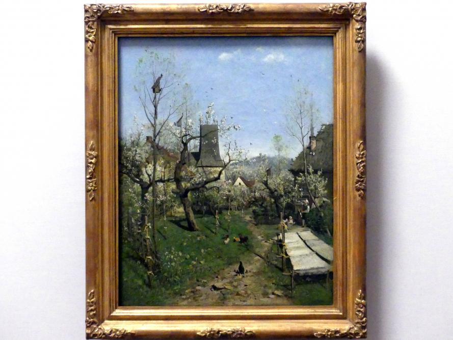 Karl Buchholz: Frühling auf dem Dorf, um 1872