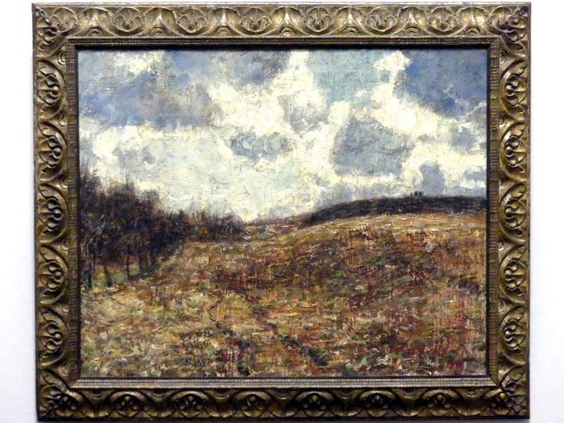 Christian Rohlfs: Hügelige Landschaft im Spätherbst, 1900