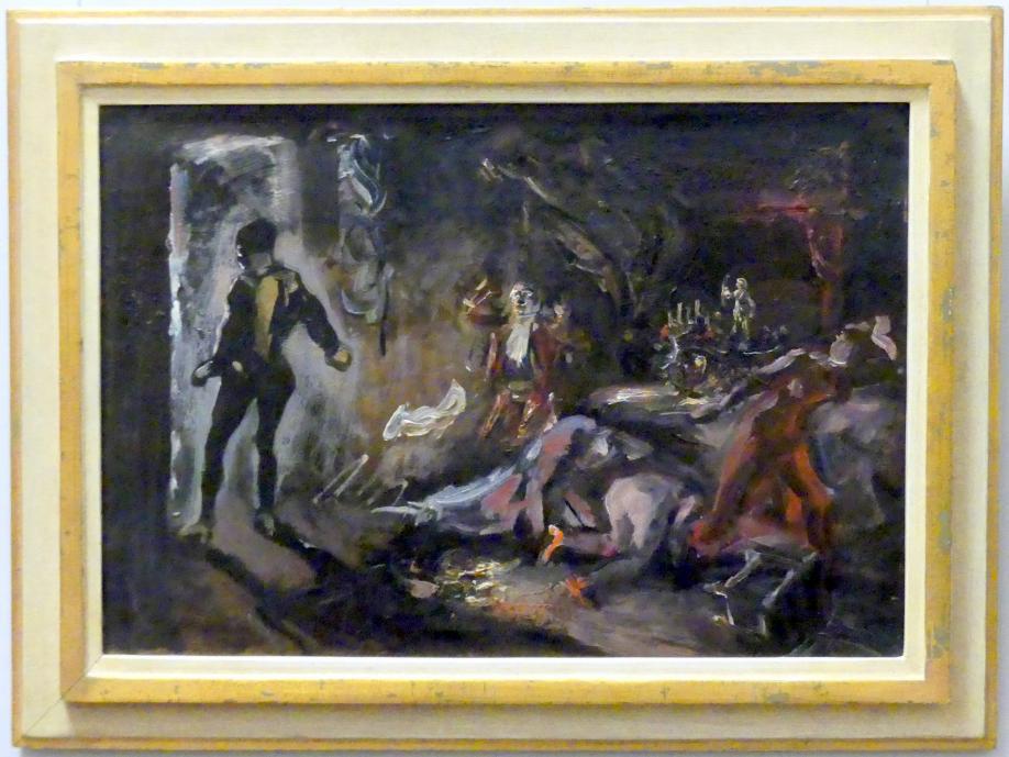 Max Slevogt: Don Juans Begegnung mit dem steinernen Gast, 1906