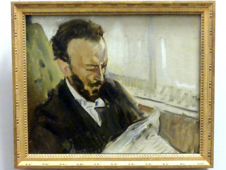 Max Slevogt: Francisco d'Andrade, Zeitung lesend, 1903