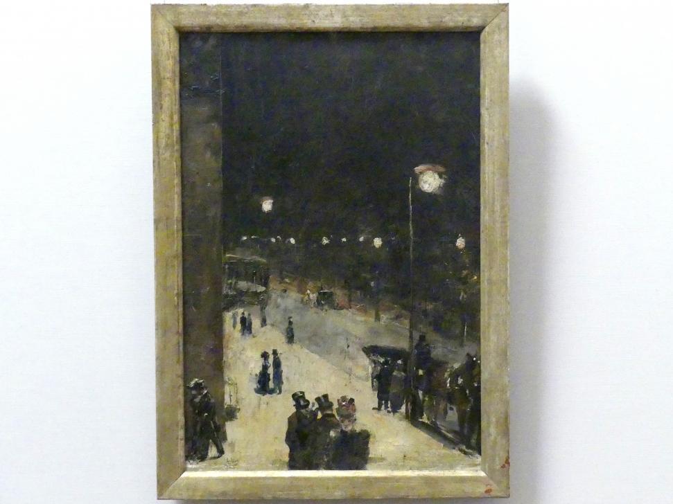Lesser Ury: Berliner Straße bei Nacht, 1889