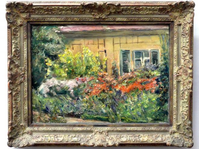 Max Liebermann: Blumenstauden am Gärtnerhäuschen, 1928