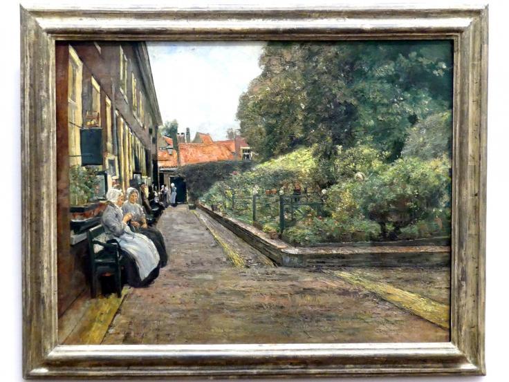 Max Liebermann: Stevenstift in Leiden, 1889
