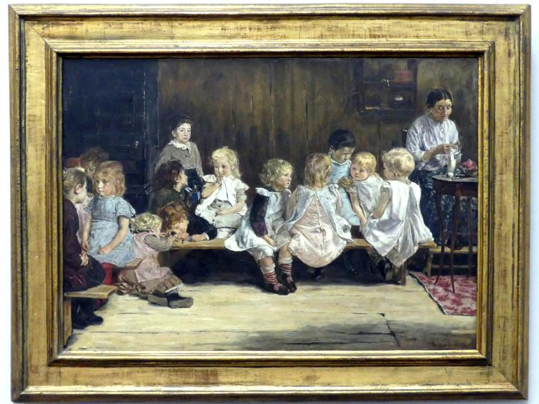 Max Liebermann: Kleinkinderschule in Amsterdam, 1880