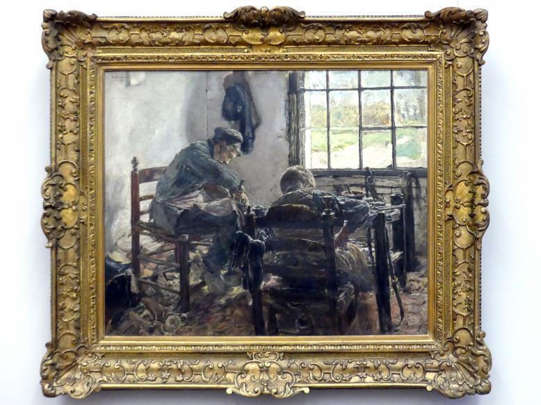 Max Liebermann: Schusterwerkstatt, 1881