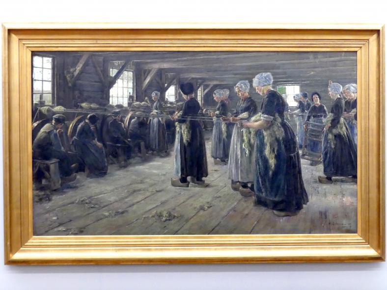 Max Liebermann: Flachsscheuer in Laren, 1887