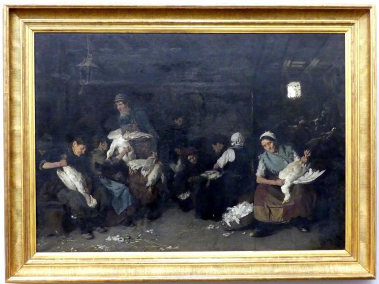 Max Liebermann: Gänserupferinnen, 1872
