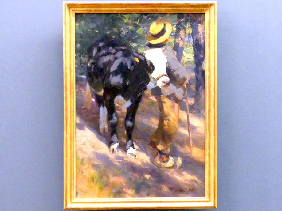 Heinrich von Zügel: Knabe mit Rind, 1896