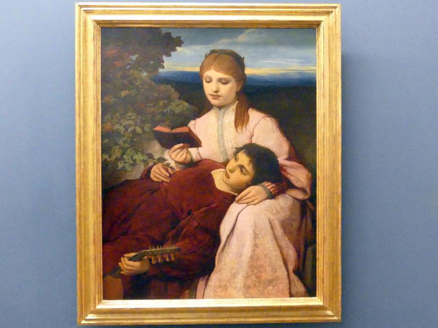 """Gabriel von Max: Die Mußestunde (Szene aus """"Tannhäuser""""), um 1875"""