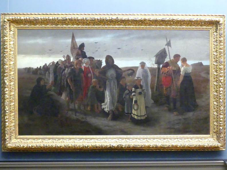 Gustav Spangenberg: Der Zug des Todes, 1876