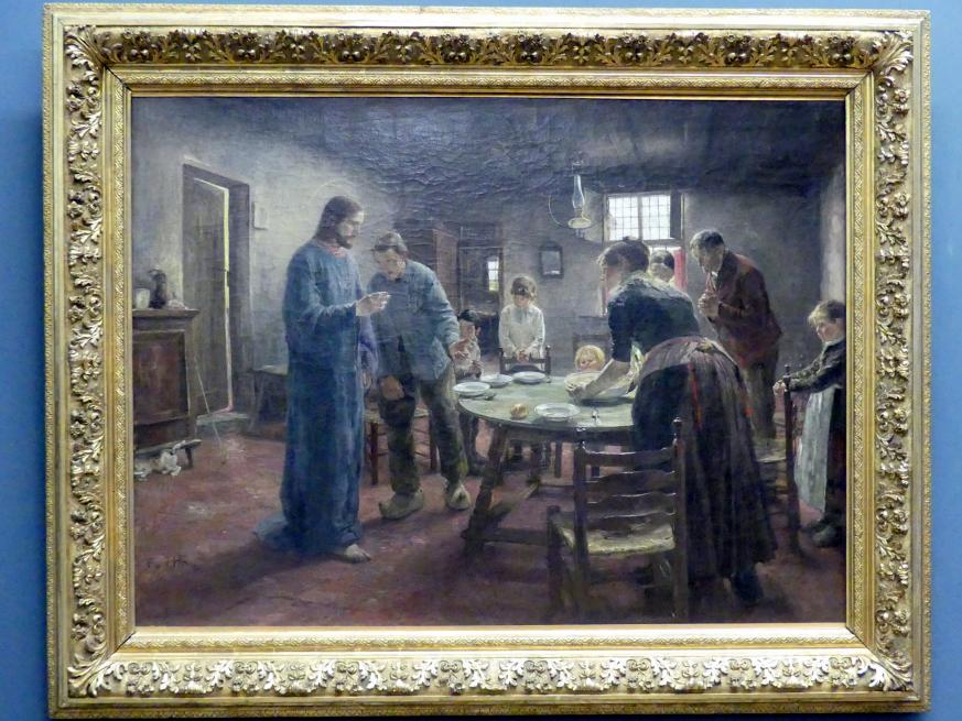 """Fritz von Uhde: Das Tischgebet (""""Komm Herr Jesu, sei unser Gast""""), 1885"""