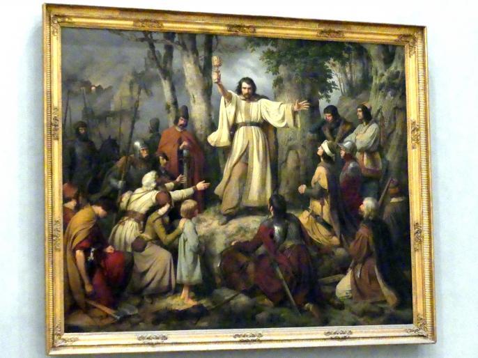 Carl Friedrich Lessing: Hussitenpredigt, 1836