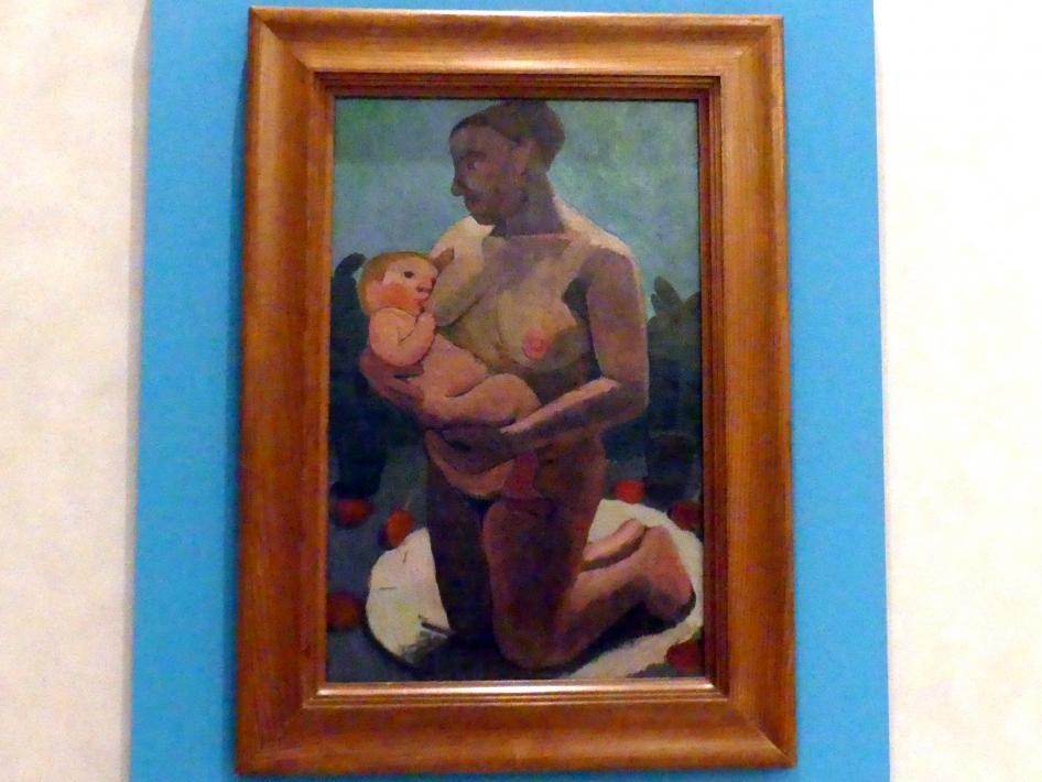 Paula Modersohn-Becker: Kniende Mutter mit Kind an der Brust, 1906