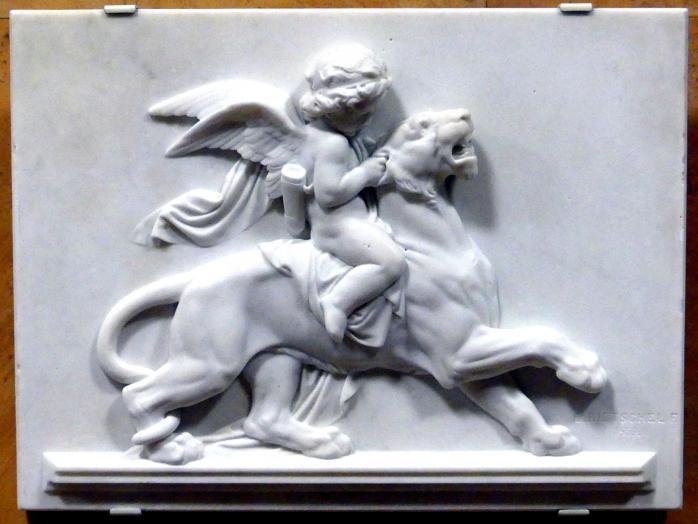Ernst Rietschel: Amor, den Panther reizend, 1852 - 1859
