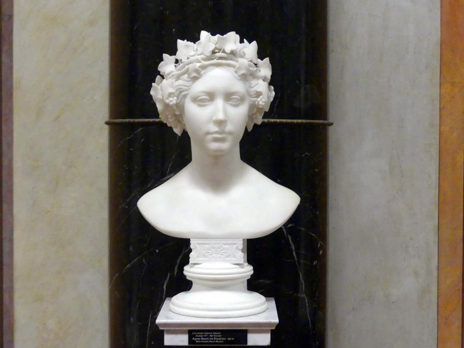 Christian Daniel Rauch: Agnes Rauch mit Efeukranz, 1822 - 1850