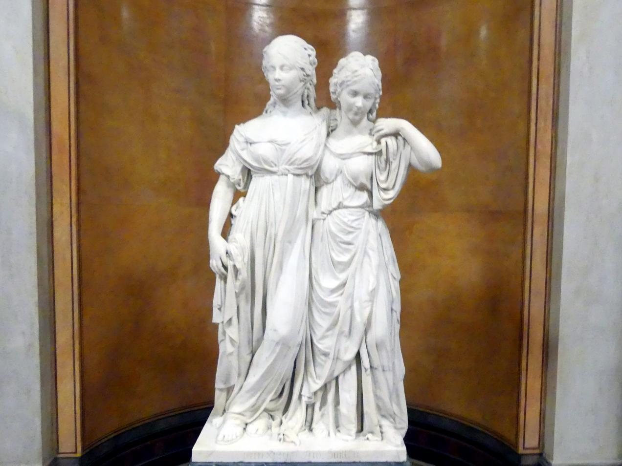 Johann Gottfried Schadow: Doppelstandbild der Prinzessinnen Luise und Friederike von Preußen, 1795 - 1797