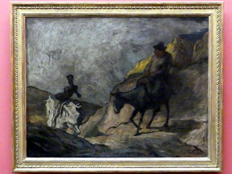 Honoré Daumier: Don Quichotte und Sancho Pansa, um 1866