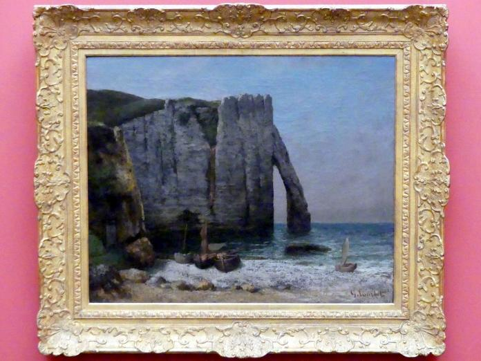 Gustave Courbet: Felsen von Étretat, 1869