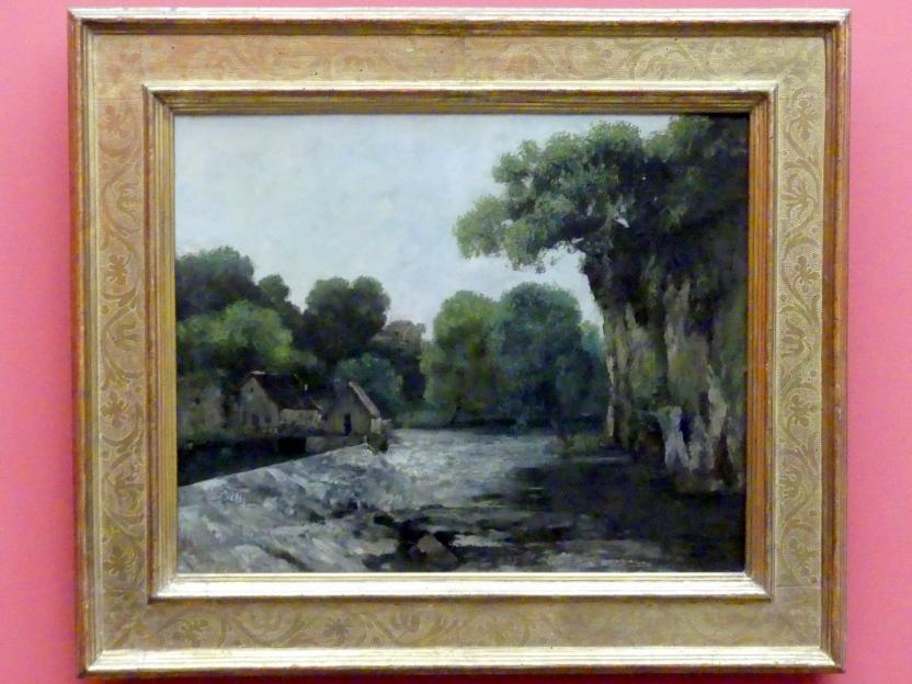 Gustave Courbet: Das Mühlwehr, 1866