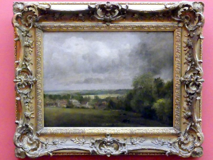John Constable: Higham Village am Flusse Stour, um 1804