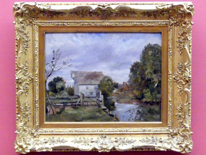 John Constable: Mühle am Flusse Stour, um 1820