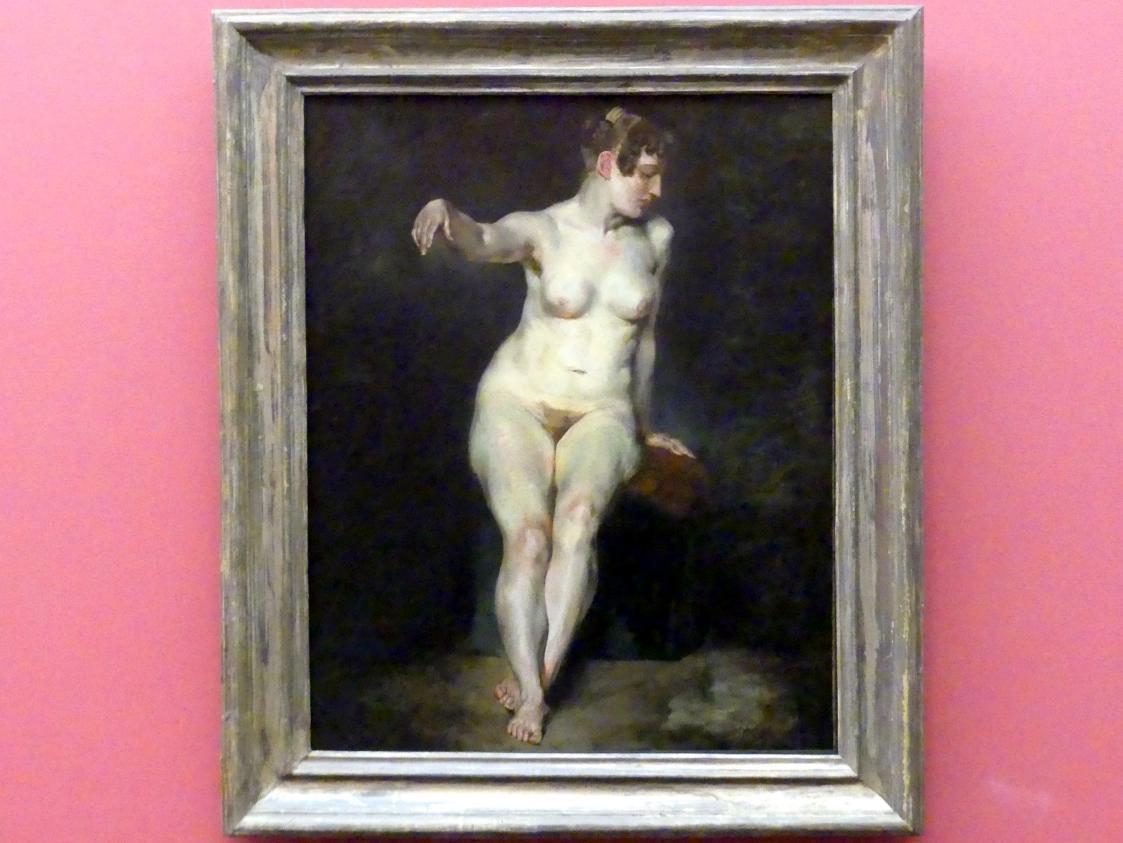 Eugène Delacroix: Sitzender weiblicher Akt (Mademoiselle Rose), um 1820 - 1821