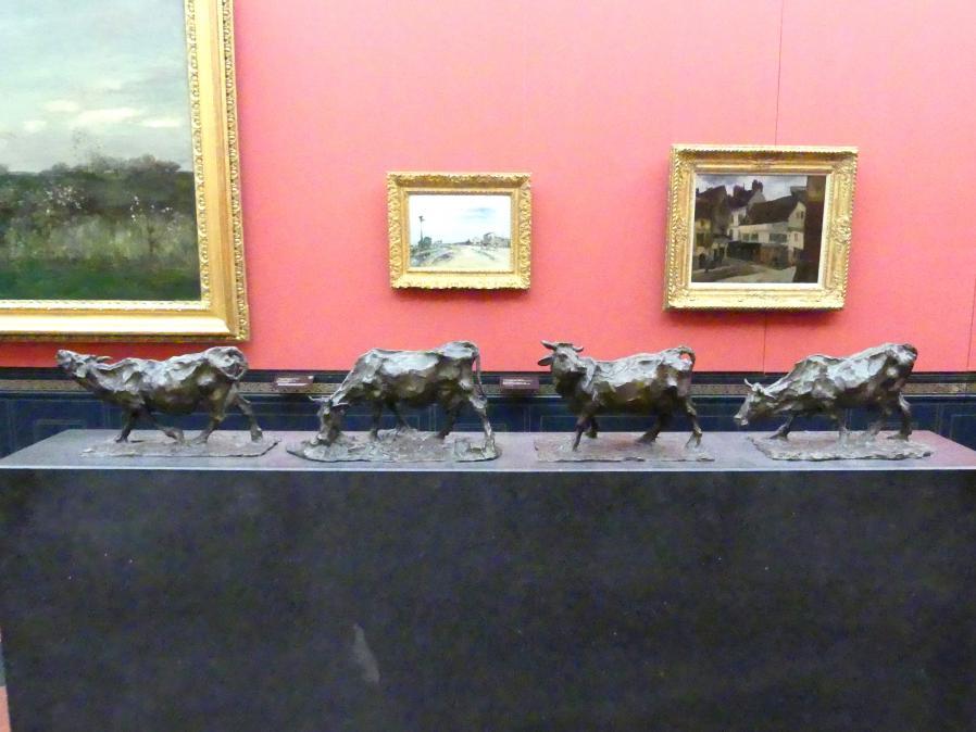 Rembrandt Bugatti: Vier Kühe, 1901
