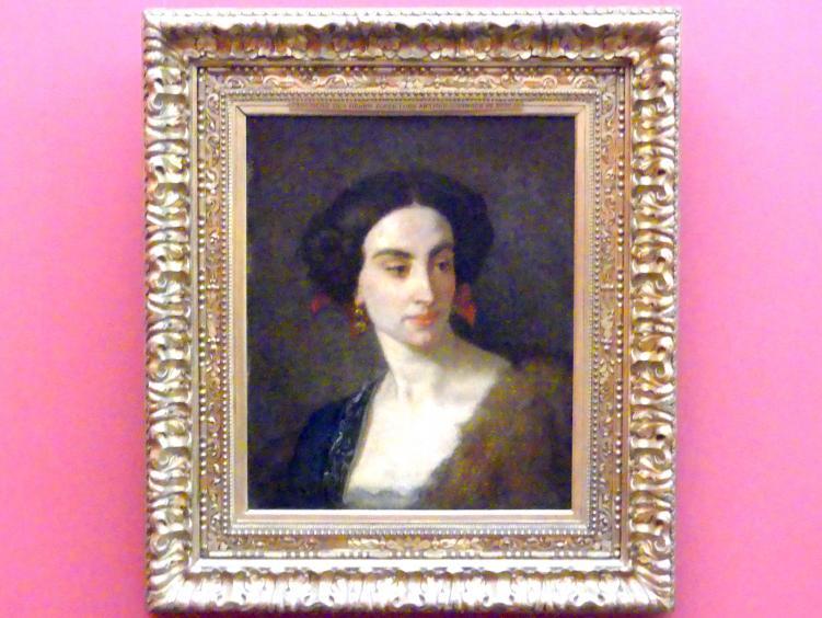 Thomas Couture: Weiblicher Studienkopf (Mademoiselle Poinsot), 1853
