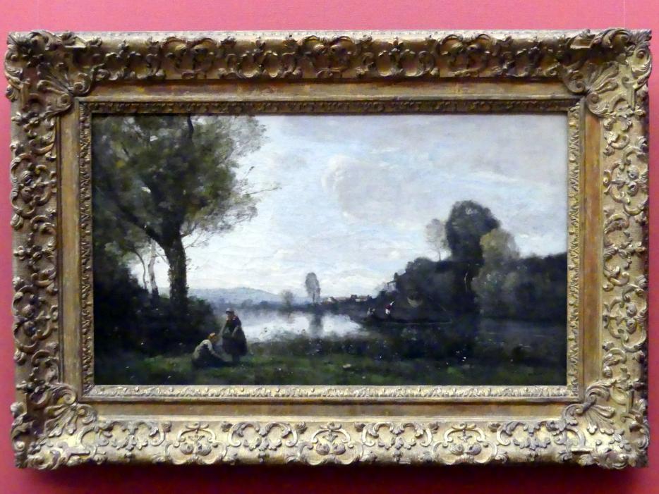 Jean-Baptiste Camille Corot: Seinelandschaft bei Chatou, um 1855