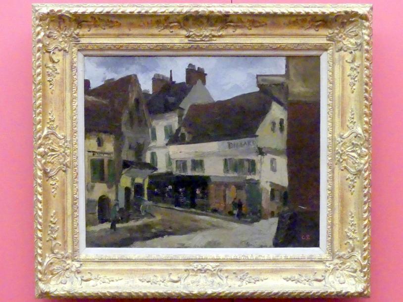 Camille Pissarro: Ein Platz in La Roche-Guyon, 1867