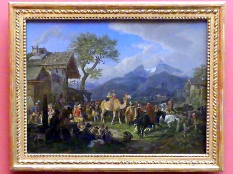 Johann Adam Klein: Tierbändiger vor dem Wirtshaus, 1830