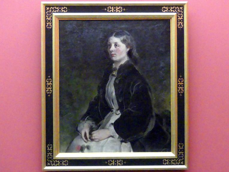 Ferdinand von Rayski: Freifrau Christina von Schönberg, um 1864 - 1868
