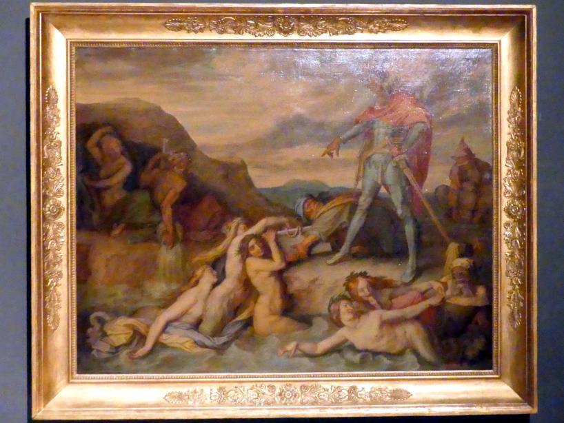 Peter von Cornelius: Hagen versenkt den Nibelungenhort, 1859