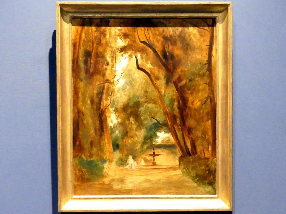Carl Blechen: Im Park der Villa Borghese, um 1837