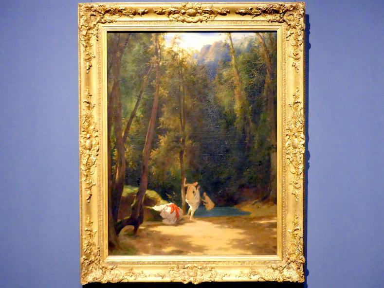 Carl Blechen: Park von Terni mit badenden Mädchen, 1835