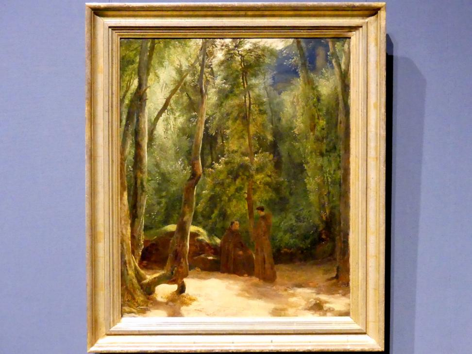 Carl Blechen: Zwei Mönche im Park von Tivoli, 1830