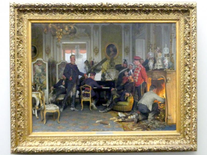 Anton von Werner: Im Etappenquartier vor Paris, 1894