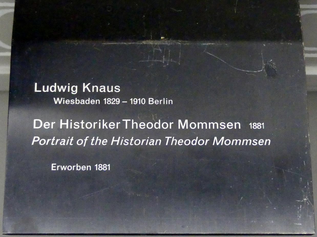 Ludwig Knaus: Der Historiker Theodor Mommsen, 1881, Bild 2/2