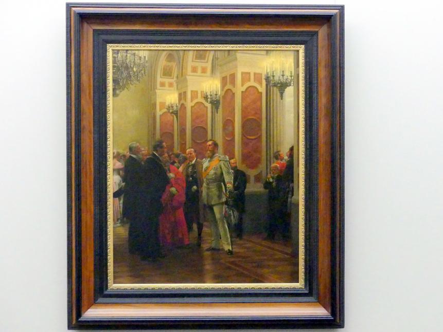 Anton von Werner: Kronprinz Friedrich auf dem Hofball 1878, 1895