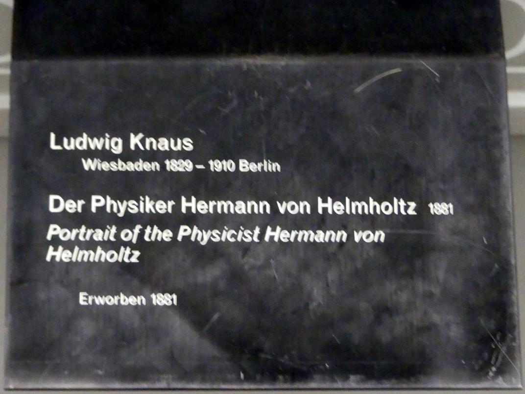 Ludwig Knaus: Der Physiker Hermann von Helmholtz, 1881, Bild 2/2