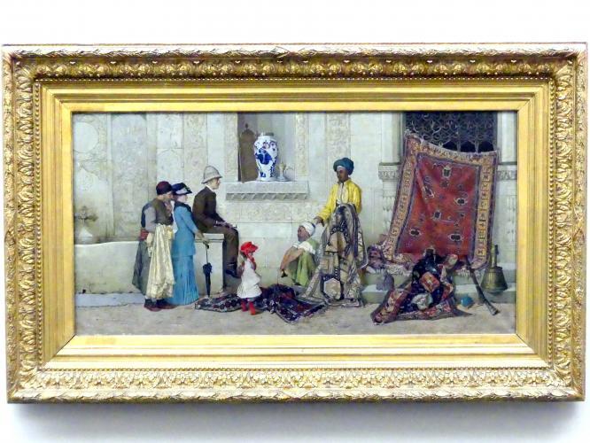 Osman Hamdi Bey: Persischer Teppichhändler auf der Straße, 1888