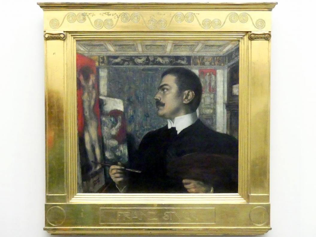 Franz von Stuck: Selbstbildnis im Atelier, 1905