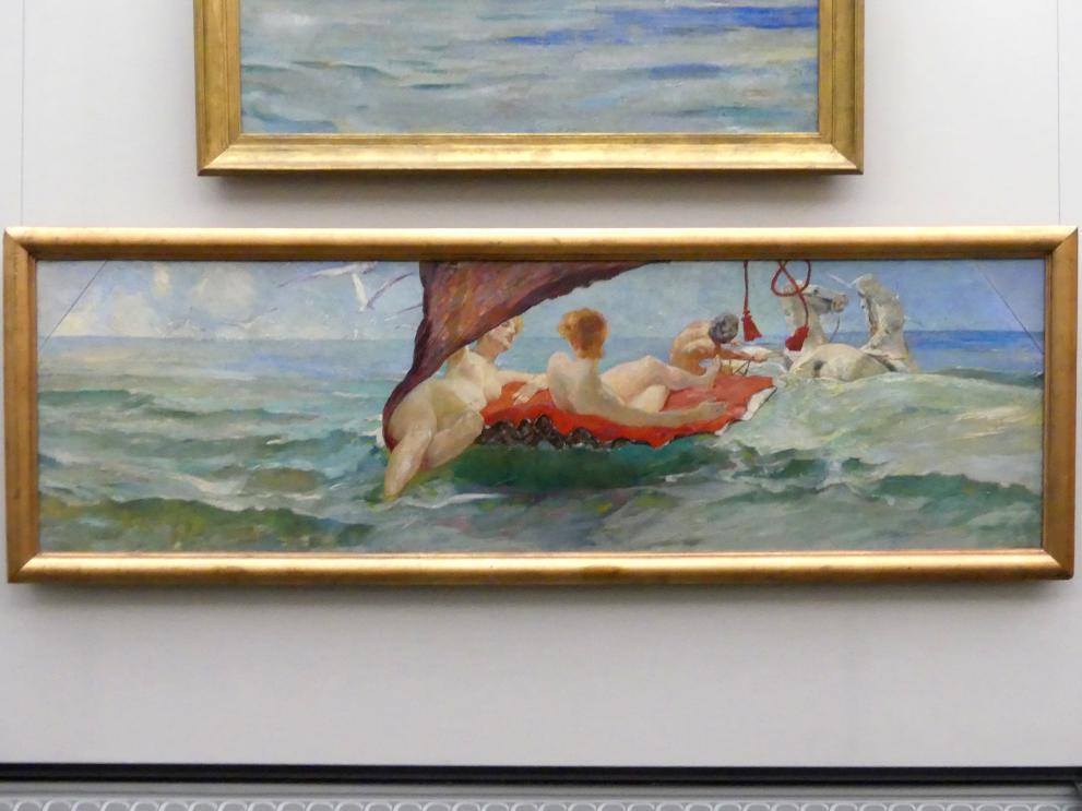 Max Klinger: Venus im Muschelwagen. Wandbild aus der Villa Albers in Berlin-Steglitz, 1884 - 1885